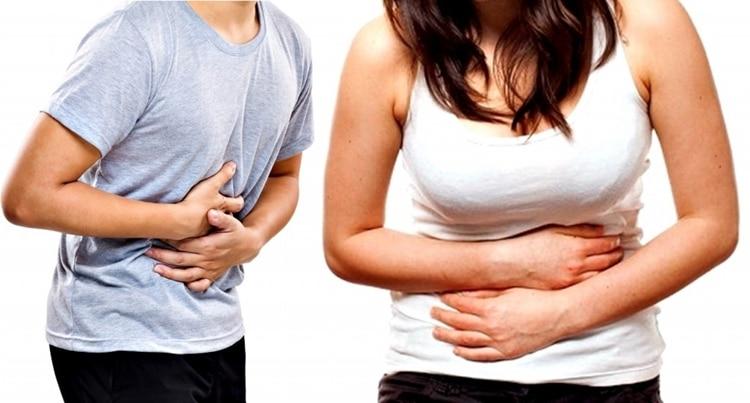 aliviar a dor de barriga
