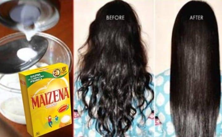 Amido de milho para hidratar cabelo