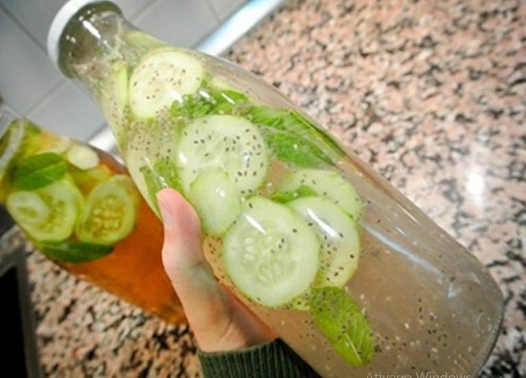 Perca 2 kg em 3 Dias Bebendo Limonada com Pepino